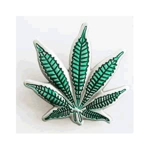 Marijuana Pot Leaf Belt Buckle