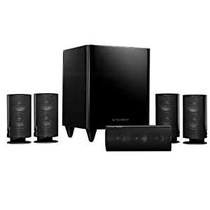 31VTHx7VLJL. SL500 AA300  Harman Kardon HKTS 20BQ 5.1 Home Theater Speaker System (Black)   $349