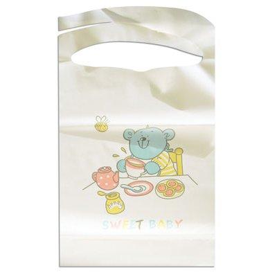 White Baby Bib front-1054642