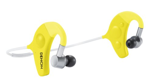 Denon Ah-W150Yw Exercise Freak In-Ear Headphones, Yellow