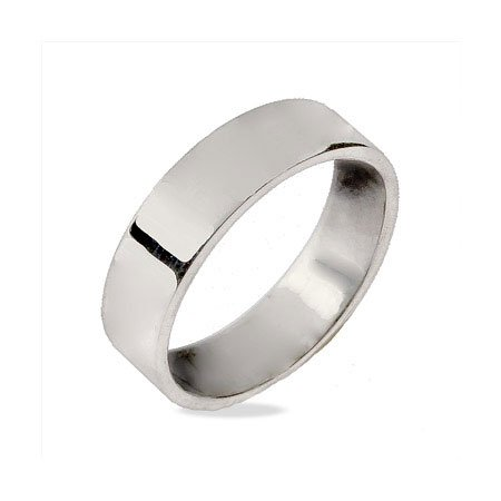 5mm Sterling Silver Flat Wedding Band Size 11 (Sizes 5 6 7 8 10 11 12 Available)