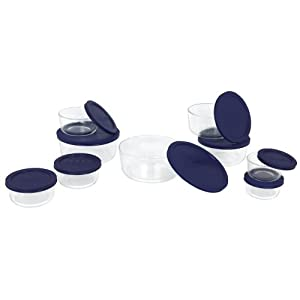 Pyrex 1072164 Storage 18-Piece Round Set 18件圆形玻璃食品保鲜收纳器皿
