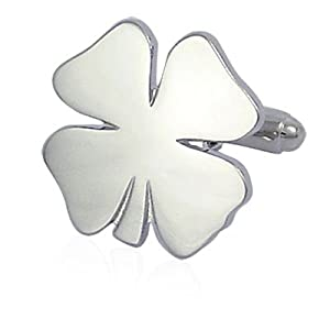 Four Leaf Clover Cufflinks-CLI-PD-CLV-SL