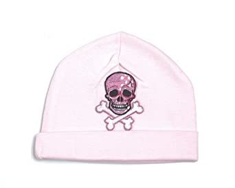 Pink Skull Applique Cotton Hat