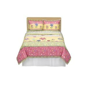 Check Out This Circo Girls Happy Flower Quilt & Shams Set Yellow Pink Full Queen