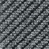Schmutzfangläufer - diagonal gerippt, Breite 2000 mm, pro lfd. m grau - Anti-Rutschmatte Bodenmatte Bodenschutzmatte Fußbodenmatte Fußbodenmatten