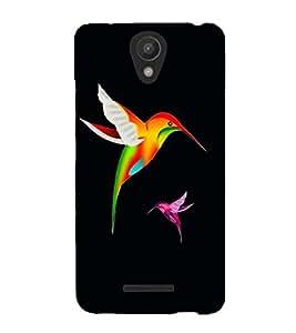 Fuson Premium Colorful Birds Printed Hard Plastic Back Case Cover for Xiaomi Redmi Note 2