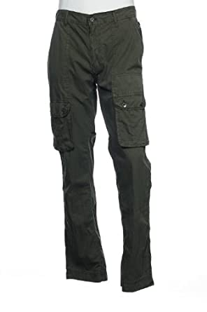 Buy Converse Black Canvas Mens Olive Green Cargo Pants by Converse