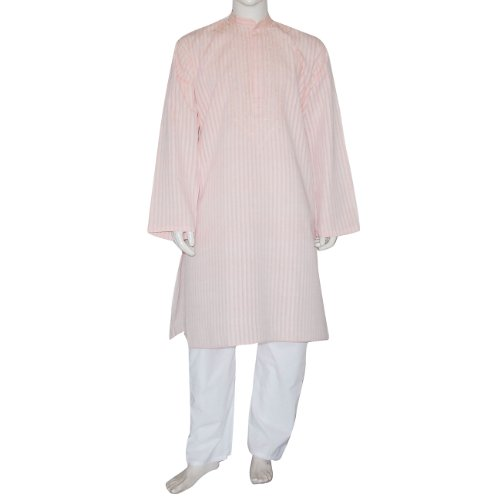 Indian Clothing Cotton Embroidered Kurta Pajama L Chest :44 inches