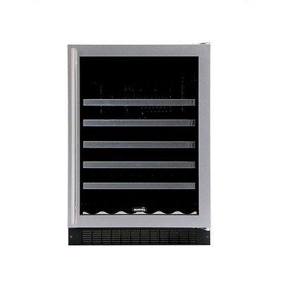Luxury 45-Bottle Wine Refrigerator Door Frame: Black, Hinge: Left front-627581