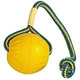 StarMark Fantastic Foam Ball on a Rope Dog Toy, Medium