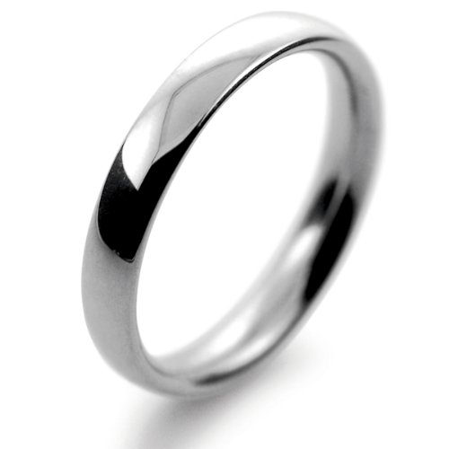 Palladium Wedding Ring D Shape Heavy Weight - 3mm