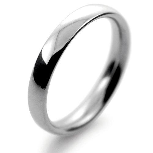 Palladium Wedding Ring D Shape Heavy Weight - 3mm