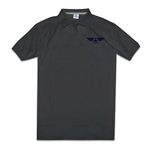 YYHU Men's Navy Super Soldier Polo Shirt - Size L Black