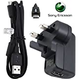 Sony Ericsson CST-80 +Data cale Micro USB Genuine Mains Charger Adapter CST80 and USB Data Cable EC700 for Sony Ericsson Aspen, Hazel, Vivaz, Vivaz-Pro, Xperia-X10, Xperia X10 Mini Pro, Xperia-X2, Xperia-X, Xperia X8, Yendo, Cedar, Xperia X12, Xperia Pla