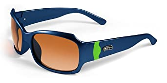 NFL Seattle Seahawks Bombshell Sunglasses with Bag, Blue Green by Maxx
