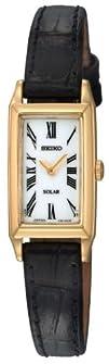 Seiko Womens SUP044 Solar Baguette Watch