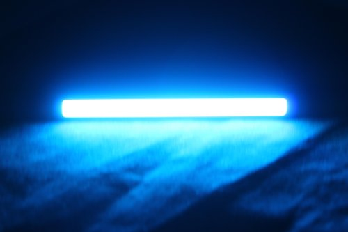 Sunsbell 2Pcs Super Bright Slim Cob Car Led White Lights For Drl Fog Driving Lamp Waterproof 12V Black(Light Blue)