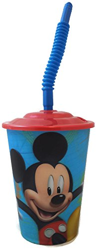 Disney Mickey Mouse 16 Oz Tumbler Cup With Straw