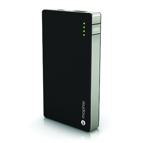 Mophie Powerstation 4000mAh 2.1A External Battery Charger for iPad, iPhone, iPod touch, DROID, HTC and BlackBerry - Travel Charger - Retail Packaging -Black