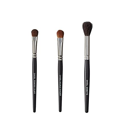 Vegan-Love-The-Chisel-Collection-Make-Up-Brush-Set-(Chisel-Pointed-Fluff,-Chisel-Double-Shader,-Chisel-Domette)