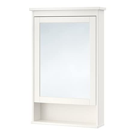 High Quality HEMNES Mirror cabinet with 1 door, white