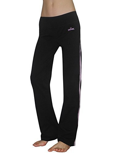 Spalding Womens Performance Slim Fit Sports Pants / Yoga Pants L Black