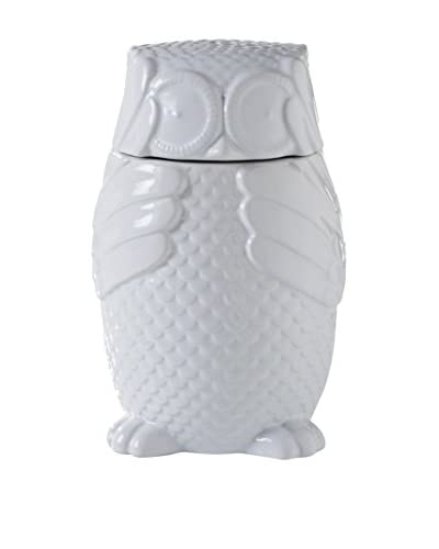Torre & Tagus Hoot Owl Ceramic Canister, White