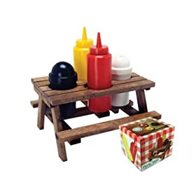 Picnic Table Condiment Holder Grilling Companion - Condiment holder for table