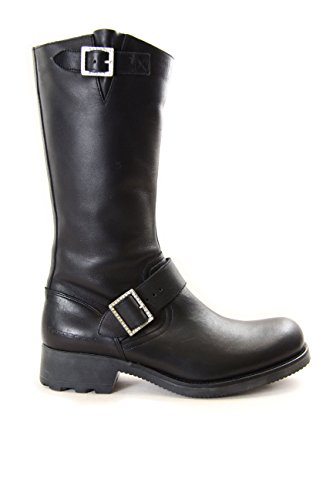Fornarina Leather Boots with Buckles mod. PIFDP3816WS Black EU39