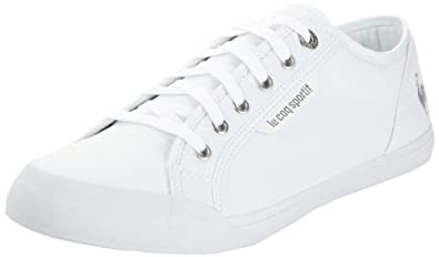 Le Coq Sportif Deauville Plus, Baskets mode mixte adulte - Blanc (White Silver), 36 EU