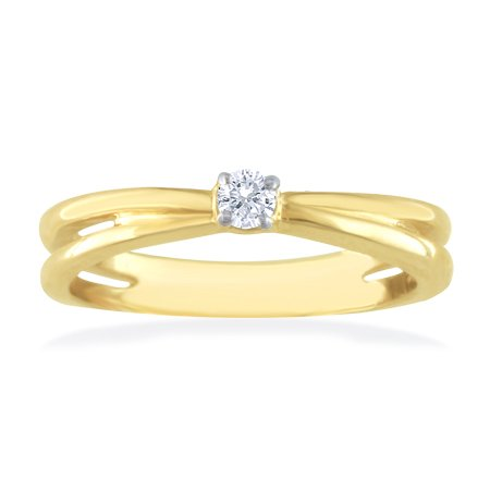 .10 ctw Diamond Solitaire Promise Ring