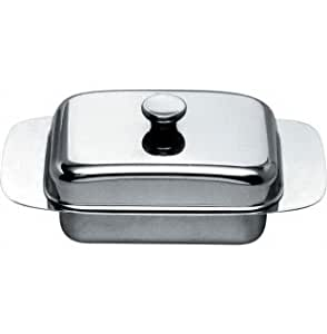 Alessi stainless steel butter dish butter dishes for Amazon alessi