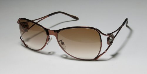 AUTHENTIC - designer/brand: BOUCHERON style/model: 79 material: REAL PALLADIUM PLATED color: BROWN ABSOLUTELY BEAUTIFUL & EXCLUSIVE SUNGLASSES/SUN GLASSES/FRAMES WITH CLEAR SIGNATURE CRYSTAL STRASS/RHINESTONES - womens/ladies