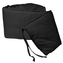 Tailored Baby Porta Crib Bumpers - Color Black