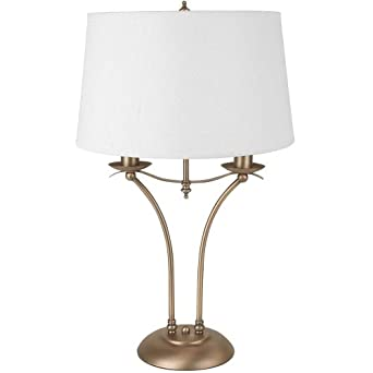 Globe merlot table lamp antique brass with white drum for Drum shaped lamp shades