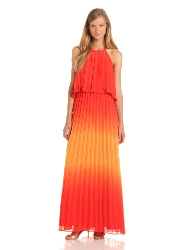 Jessica Simpson Women's Halter Maxi Dress, Poinsettia, 10