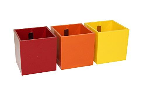kalamitica set 3 w rfel magnetische blument pfe 6 cm rot farbtone. Black Bedroom Furniture Sets. Home Design Ideas