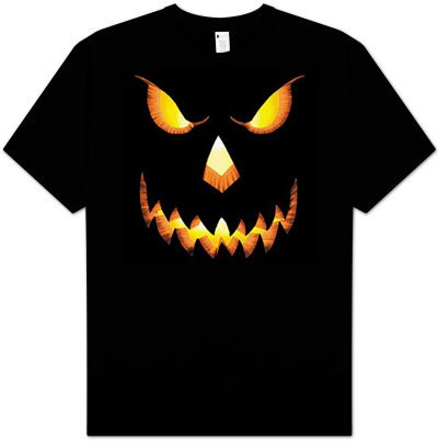 PUMPKIN Jack-oLantern Scary Halloween Costume Adult T-shirt Tee Shirt