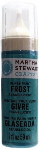 Martha Stewart Frost Translucent Glass Paint, 2-Ounce, Surf front-518297