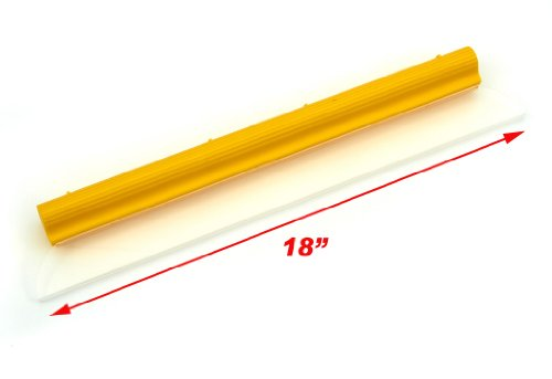 Original Water Blade, Silicone T-Bar Squeegee, 18 Inch Yellow USA (Wet Sand Squeegee compare prices)