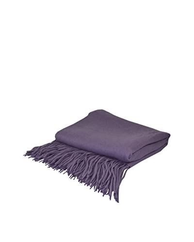 PÜR Cashmere Signature Blend Throw, Wisteria