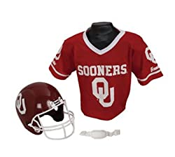 Oklahoma Sooners Football Helmet & Jersey Top Set