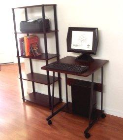 "Amazon.com : Narrow Computer & Laptop desk - 24"" W - CUZZI S2828"