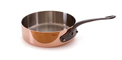 Mauviel M'Heritage Copper 250c 6502.28 4.9-Quart Saute Pan and Cast Iron Handle