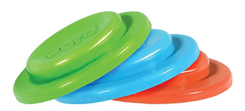 Pura Kiki 3 Piece Silicone Sealing Disk, Blue, Green, Orange, 0 Months+