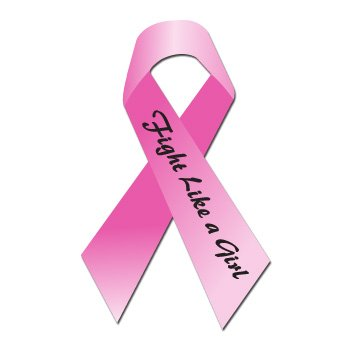 BREAST CANCER FIGHT LIKE A GIRL RIBBON - Sticker Decal - #S312