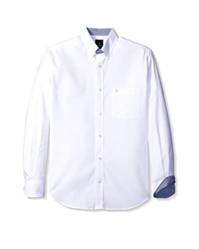 Tailorbyrd Men's Long Sleeve Button-Down with Logo Pocket