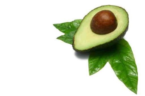 Food Wall Decals Half Avocado - 24 Inches X 16 Inches - Peel And Stick Removable Graphic