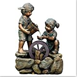 Water Features Character Fountains Two Kids Outdoor